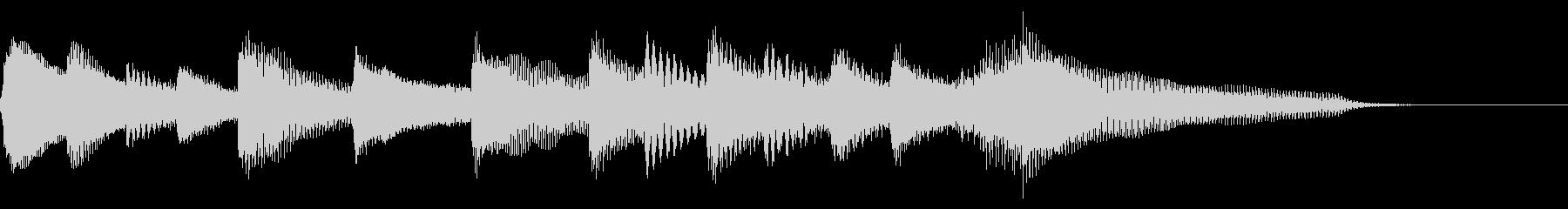 【ジングル】落ち着きのあるピアノソロの未再生の波形
