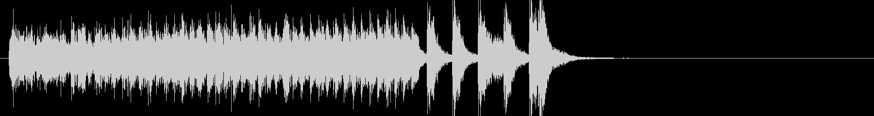 琴と尺八によるハイテンションの和風ポップの未再生の波形