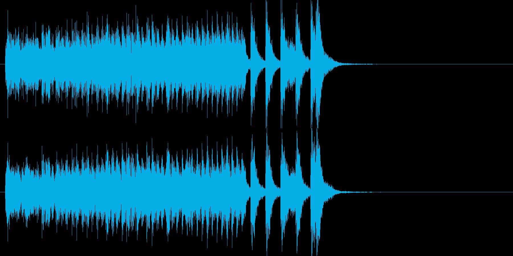 琴と尺八によるハイテンションの和風ポップの再生済みの波形