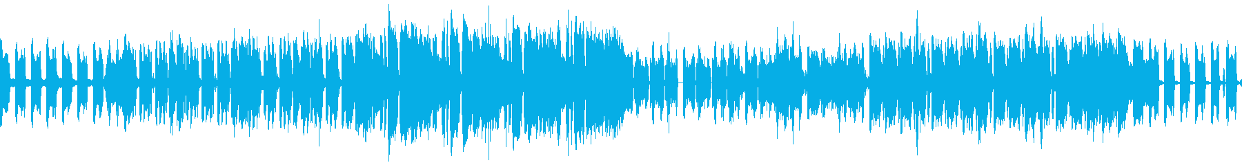都会っぽいBGMの再生済みの波形