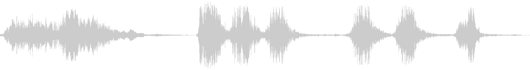 犬の鳴き声(ワンワンワンと吠える)の未再生の波形