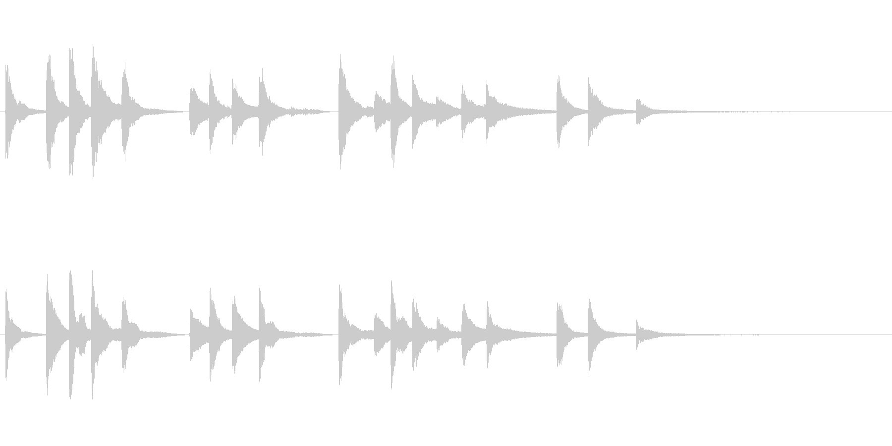 朗読・証言のBGM用~短いピアノソロ~の未再生の波形