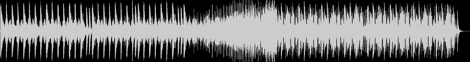 アップテンポのエレクトロミュージックの未再生の波形