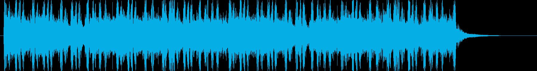 OP ED ノリノリなドラムパターンの再生済みの波形