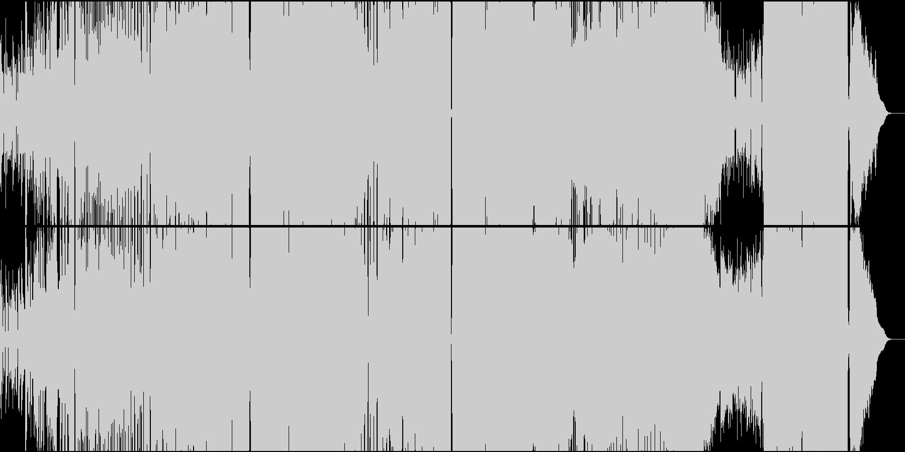異世界アクション風味のアニソン系ロックの未再生の波形