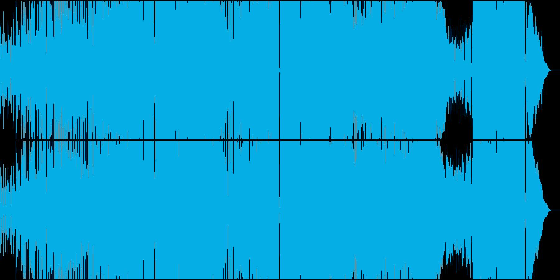 異世界アクション風味のアニソン系ロックの再生済みの波形