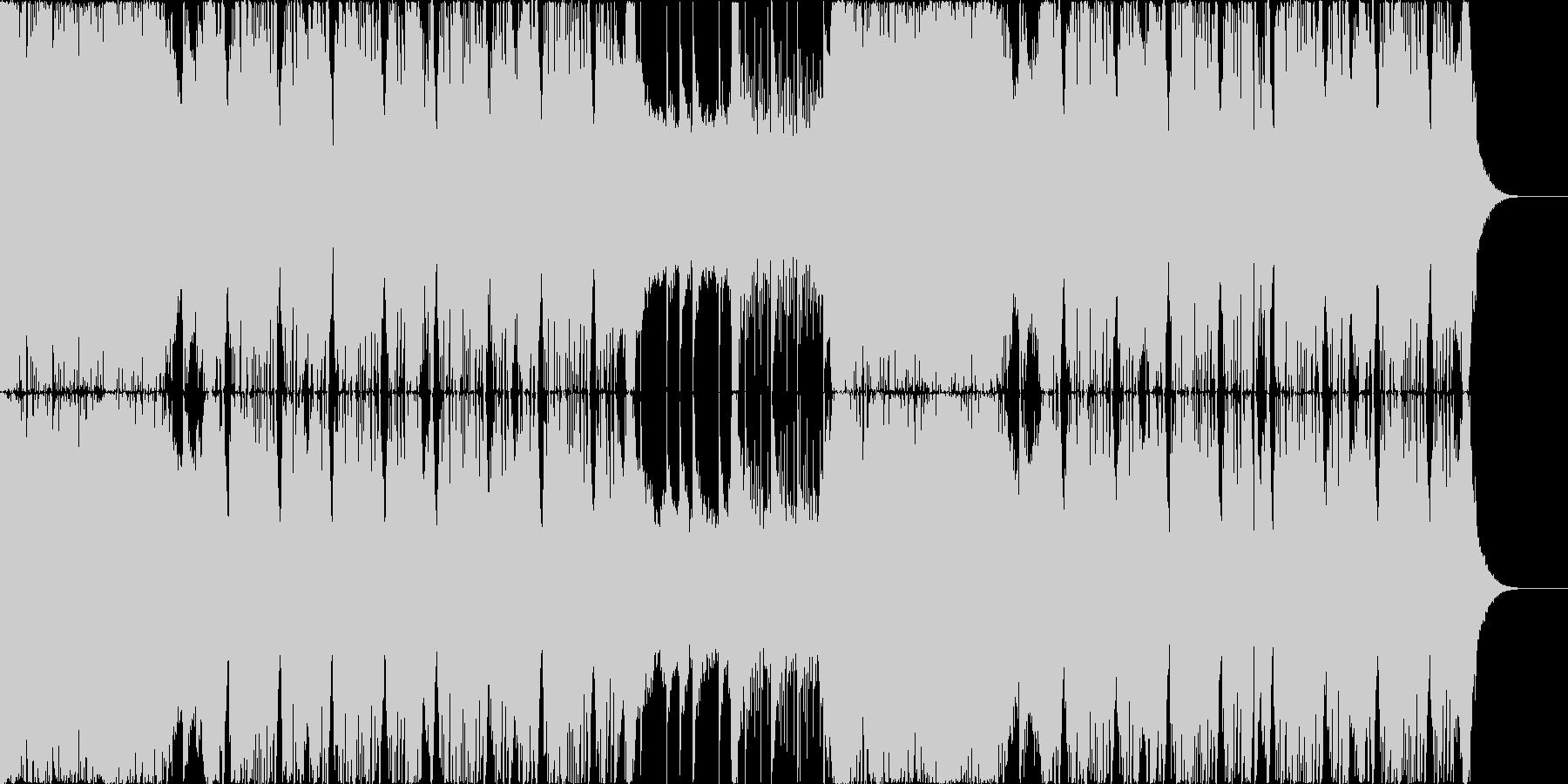 広がりのあるシンセのポジティブなEDMの未再生の波形