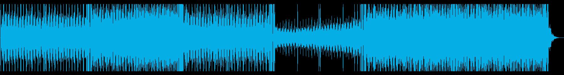 テクノ。シンセウェーヴ。電子の再生済みの波形