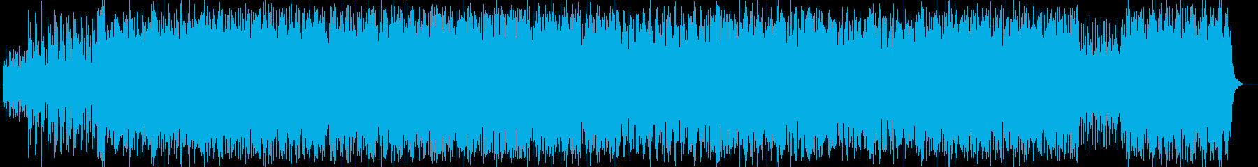 おしゃれなシンセサイザーテクノ風サウンドの再生済みの波形