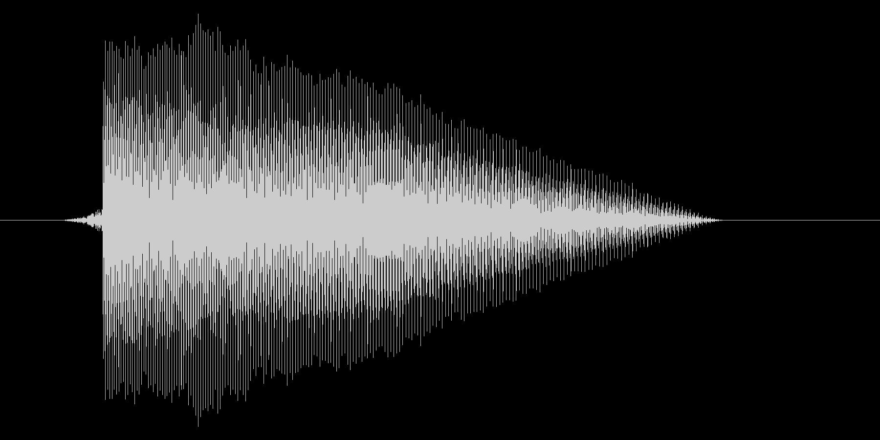 ゲーム(ファミコン風)レーザー音_019の未再生の波形