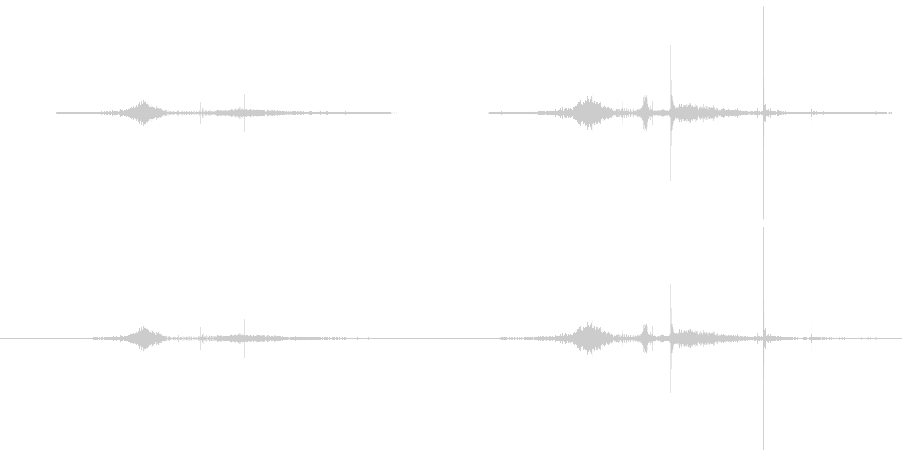 BMX 操縦パイプ01の未再生の波形