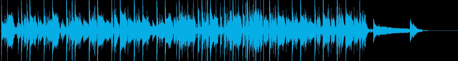 短め、爽やか、クリーントーンのエレキの再生済みの波形