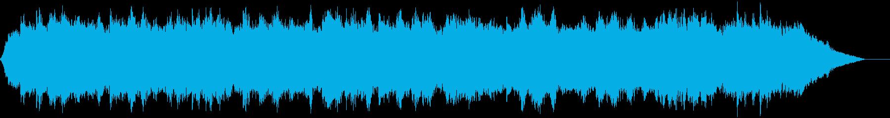浮遊感のある揺らいだピアノ曲の再生済みの波形