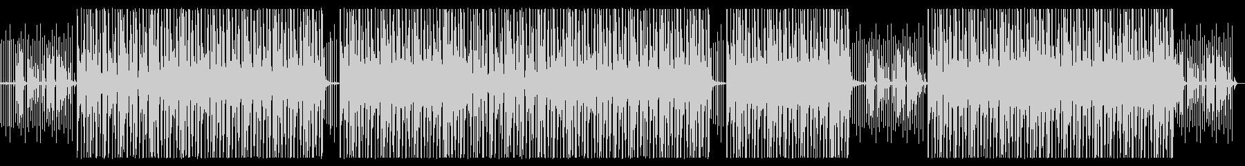 時計とオルゴール音の癒しビートの未再生の波形