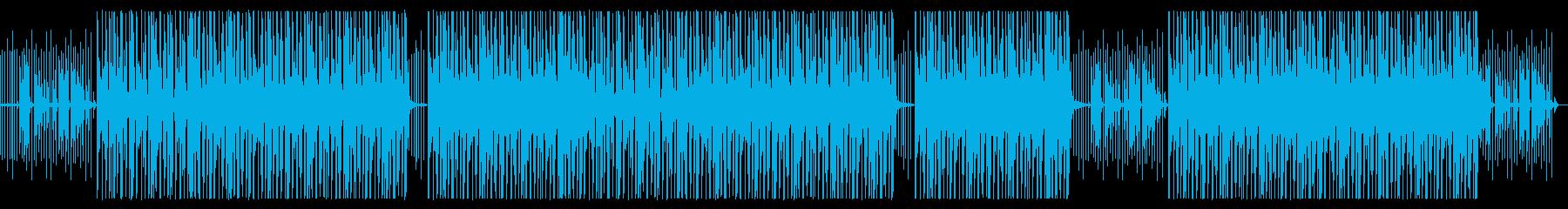 時計とオルゴール音の癒しビートの再生済みの波形