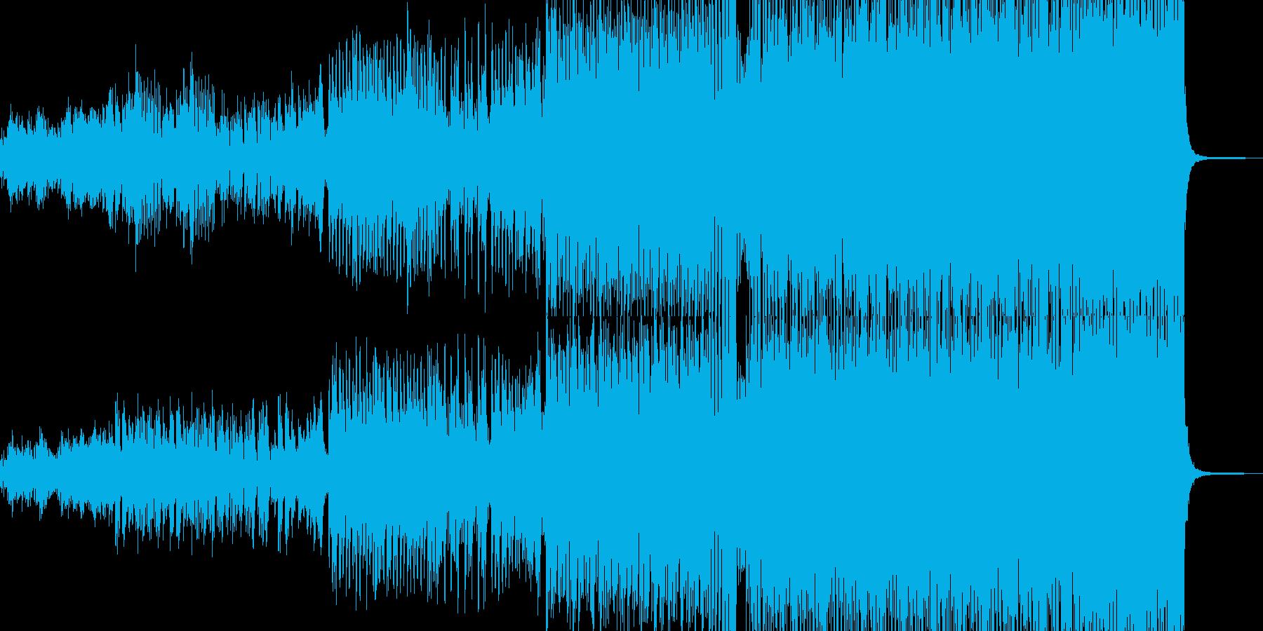 モーツァルトを楽しく躍らせたダンステクノの再生済みの波形