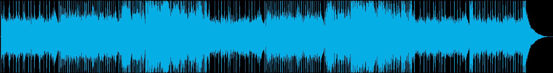 ロック系 爽やかな四つ打ちエレキロックの再生済みの波形