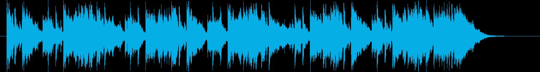 ゆったりとした可憐なシンセポップジングルの再生済みの波形