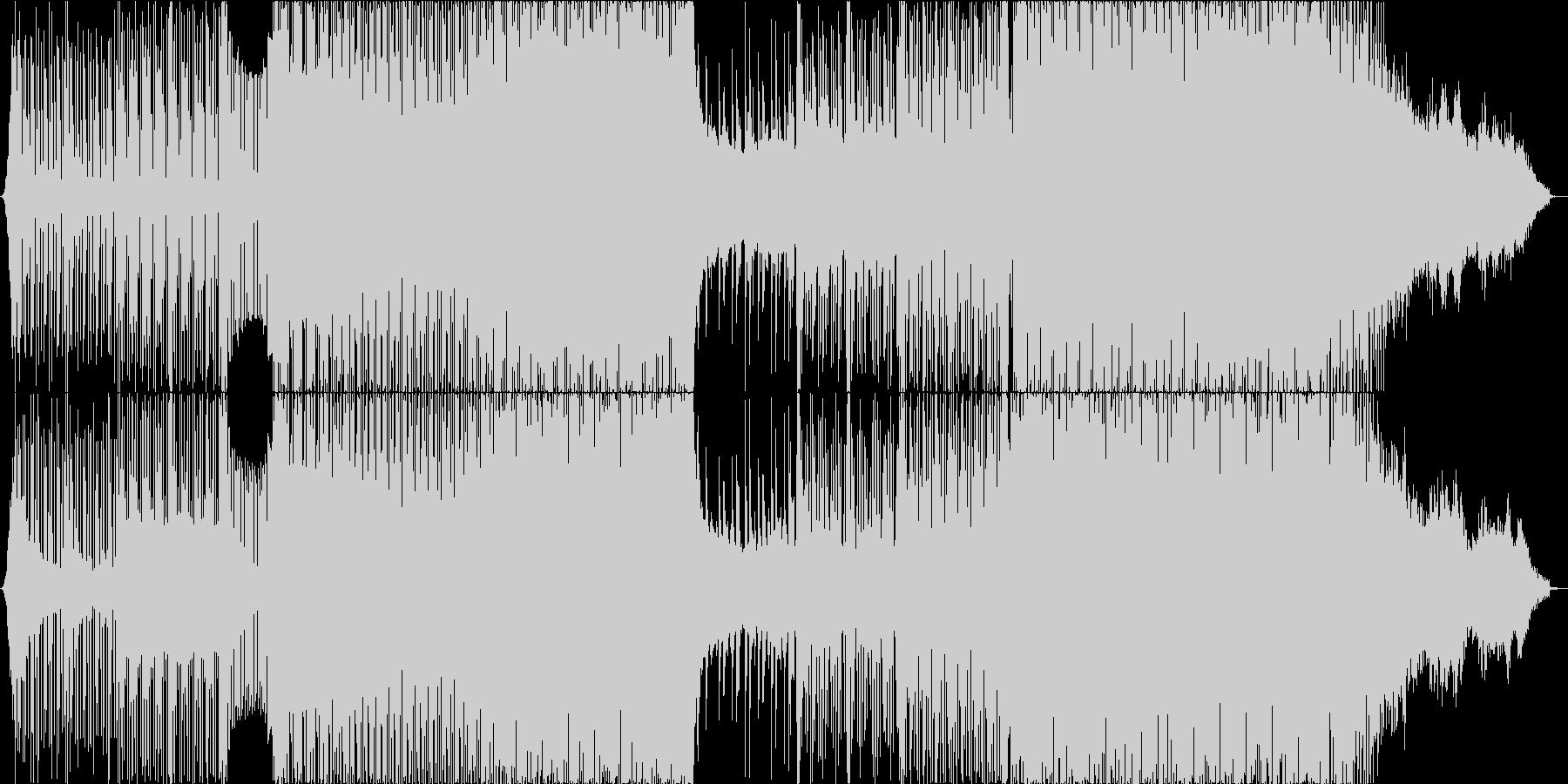 疾走感のあるキラキラしたEDM/ハウスの未再生の波形