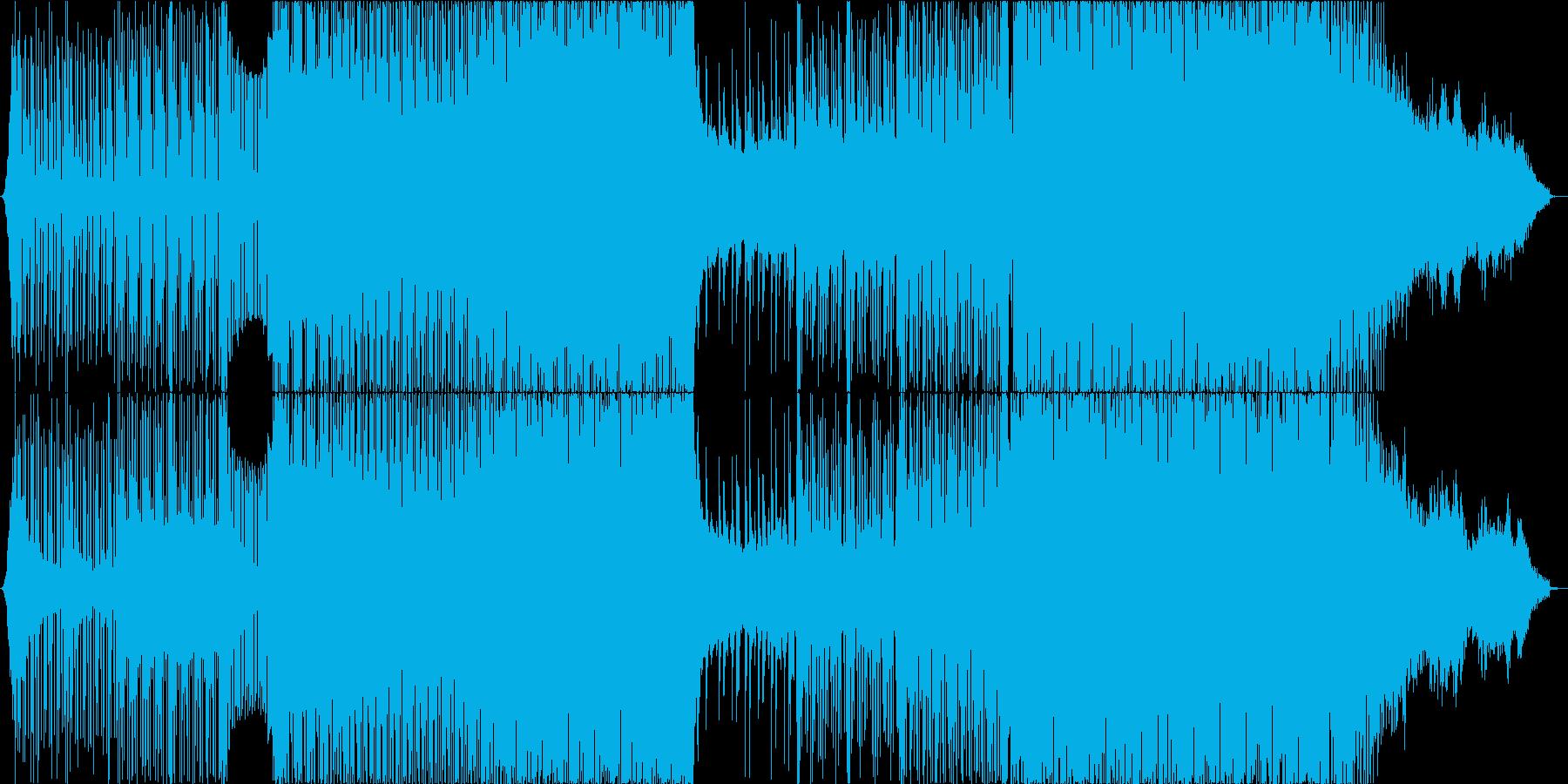 疾走感のあるキラキラしたEDM/ハウスの再生済みの波形
