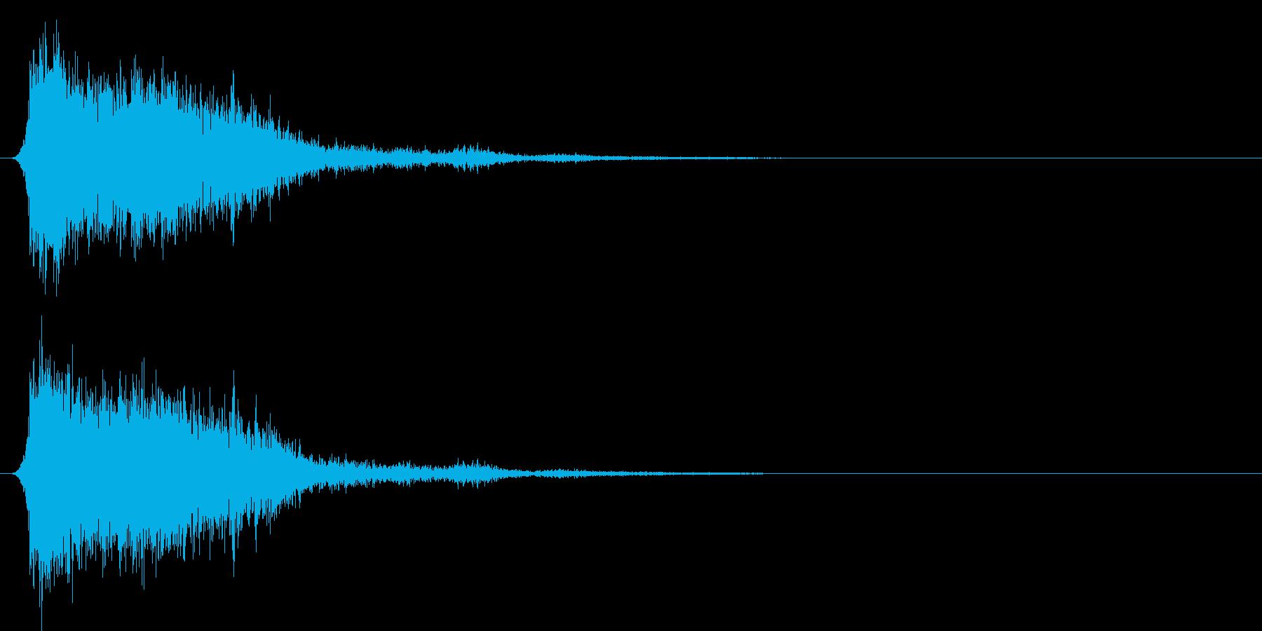 コミカルなダッシュ!ジャンプの効果音4bの再生済みの波形