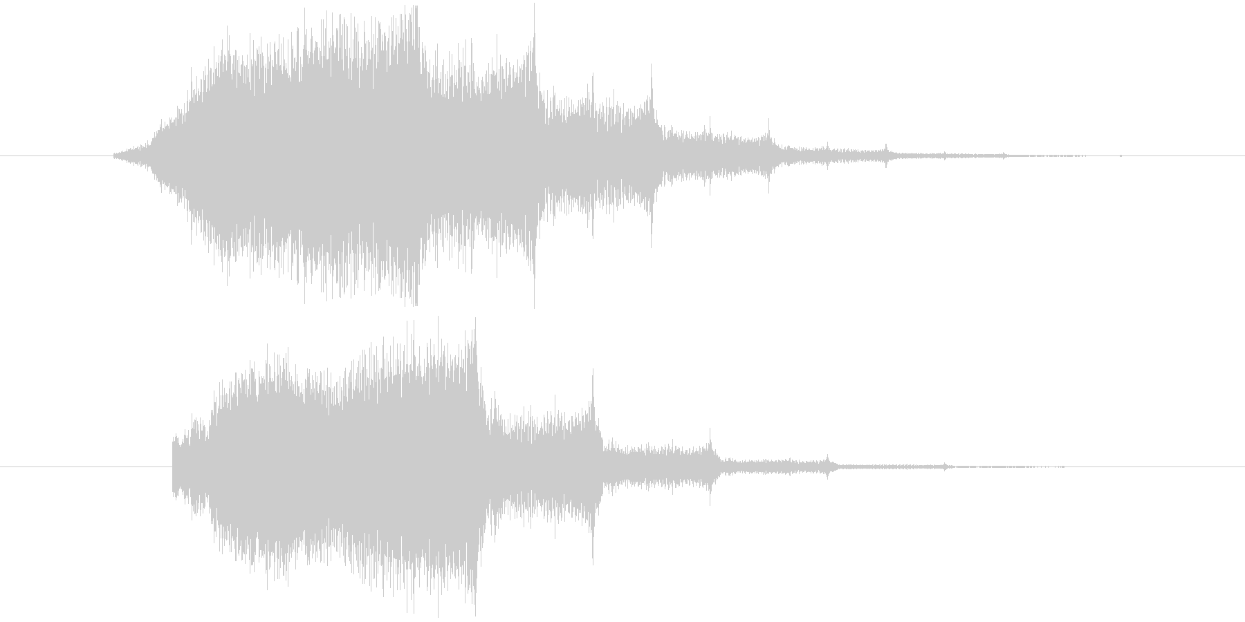 キーンというホラー系の効果音 の未再生の波形