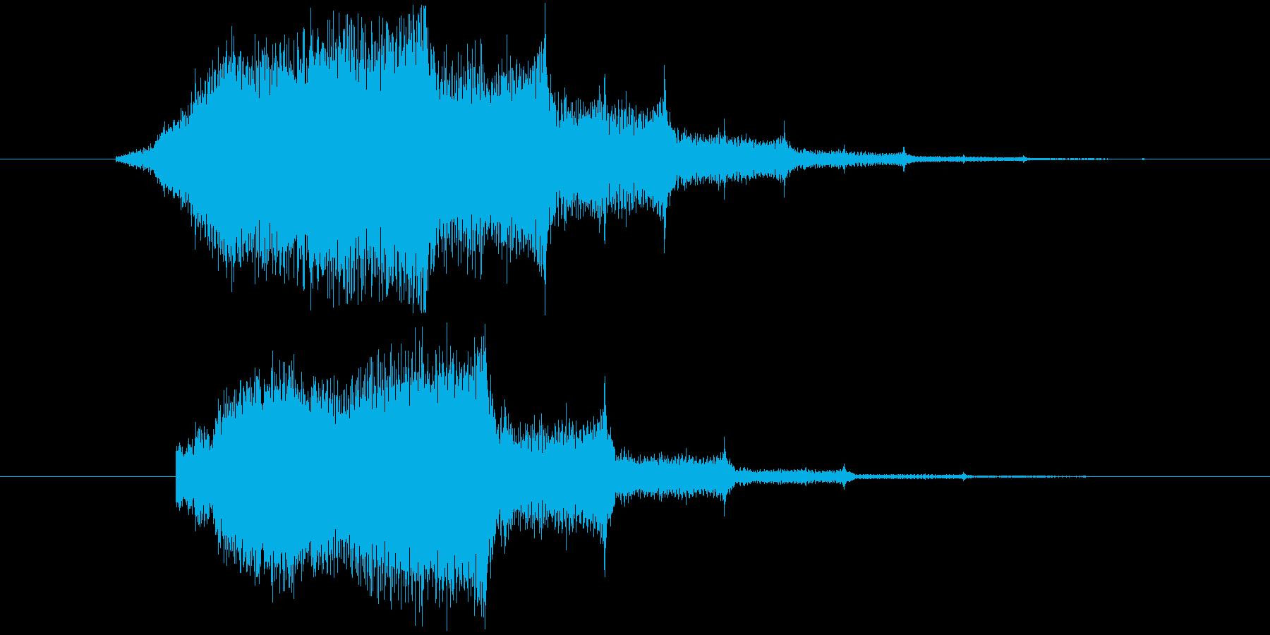 キーンというホラー系の効果音 の再生済みの波形