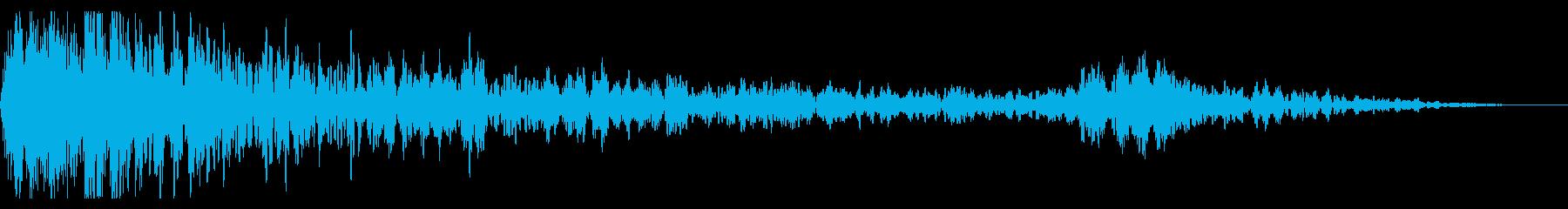 スペースインベーダーヒットの再生済みの波形