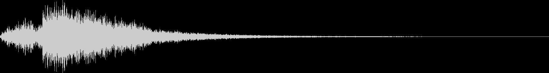 カキーン4(確定 ヒット音)の未再生の波形