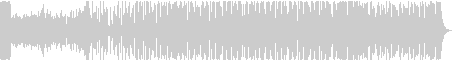 ダークなヒップホップ系BGMの未再生の波形
