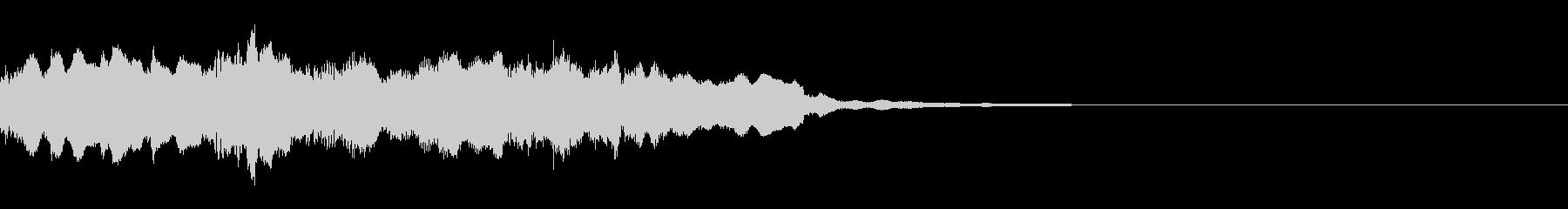 和風のジングル3の未再生の波形