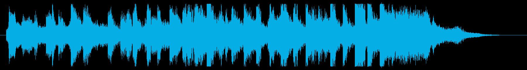 楽し気なラボのオープニングジングルの再生済みの波形