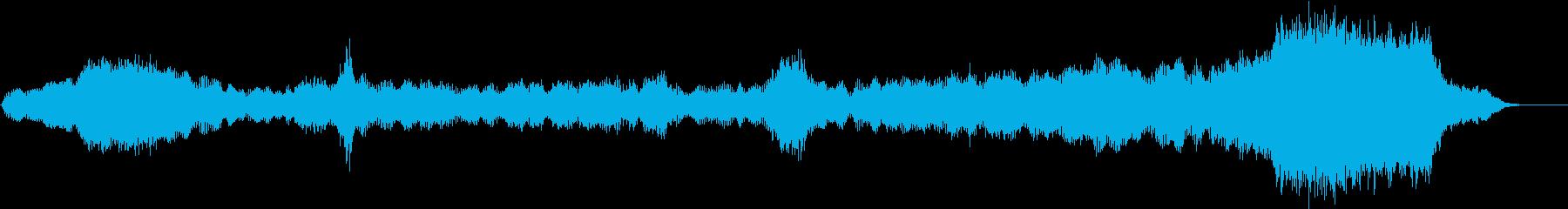 緊迫した音響曲(ピアノ入り)の再生済みの波形
