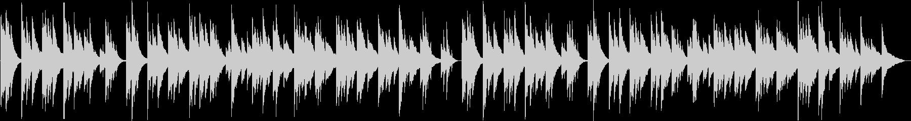 寂しく切ないシンセサイザーサウンドの未再生の波形