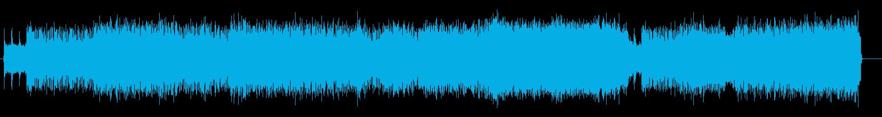 レース、戦闘等のゲーム音楽に最適なメタルの再生済みの波形