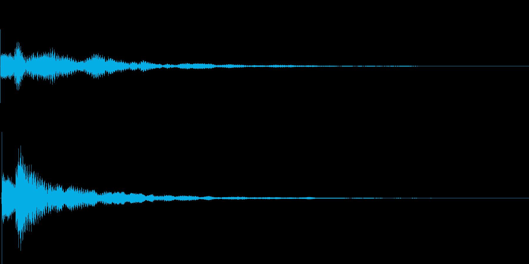 テローン テロップ・決定音・タッチ音の再生済みの波形