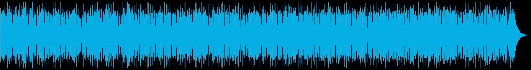 軽快なポップBGMの再生済みの波形