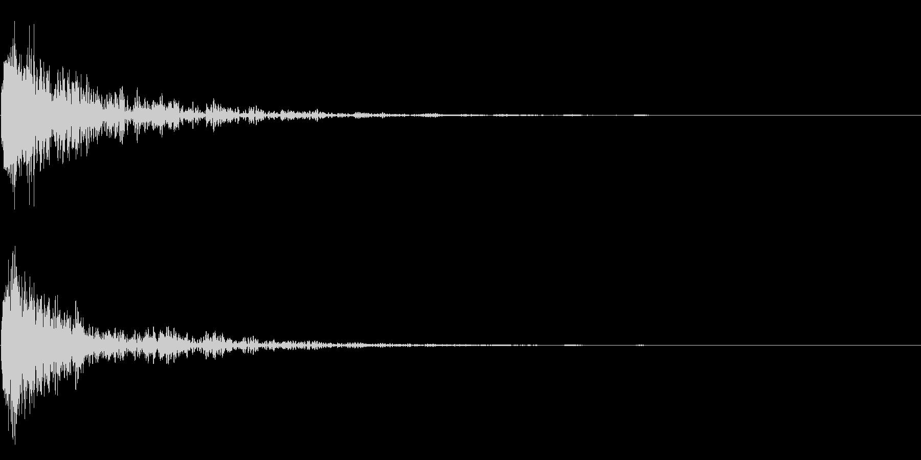 ガーン衝撃音ホラーサスペンスに最適のSEの未再生の波形