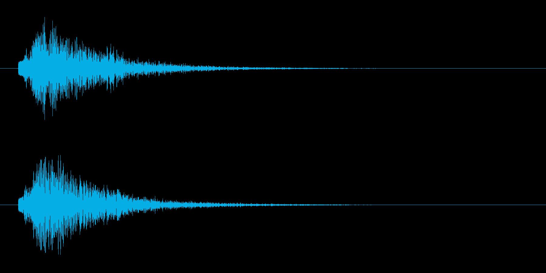 ぴゅーん ピューン ぴゅー ピューの再生済みの波形