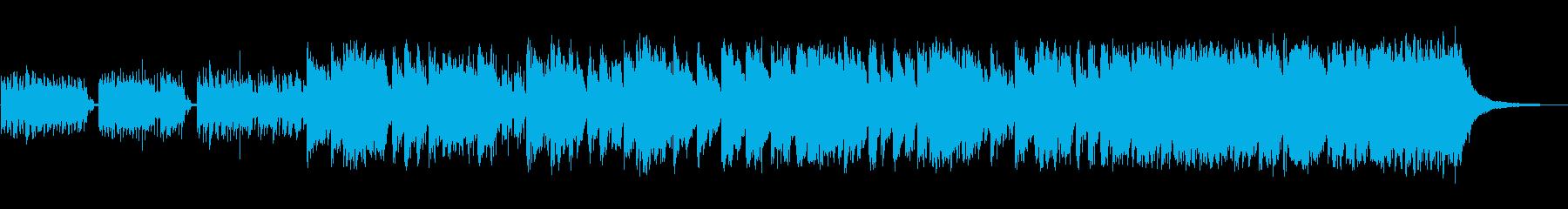 複数の楽器が重なったシンセサイザー音の再生済みの波形