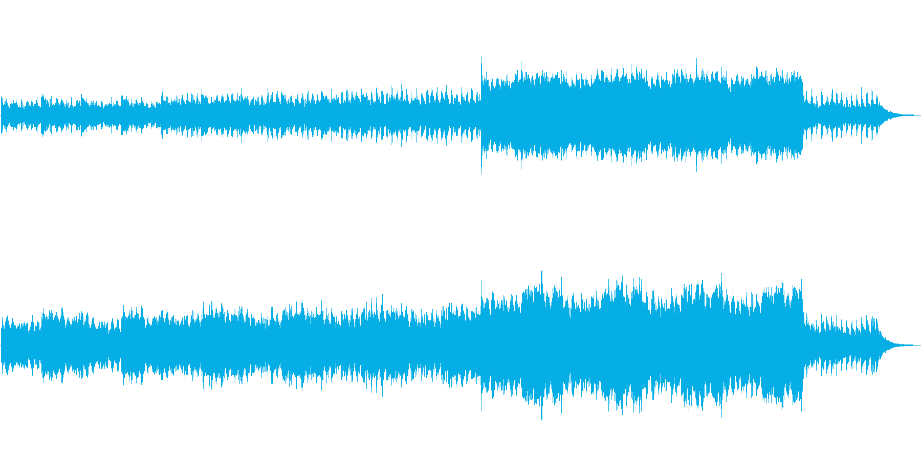 SF映画音楽のような空気感のある曲の再生済みの波形