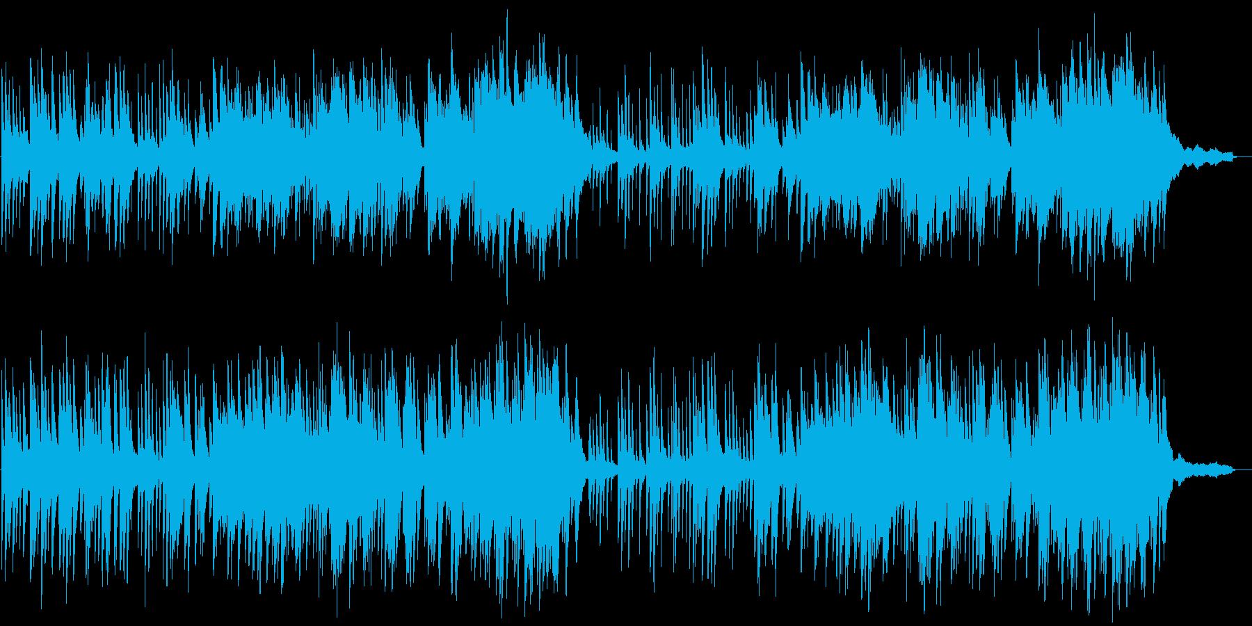 映像向け 落ちついた雰囲気のピアノソロの再生済みの波形