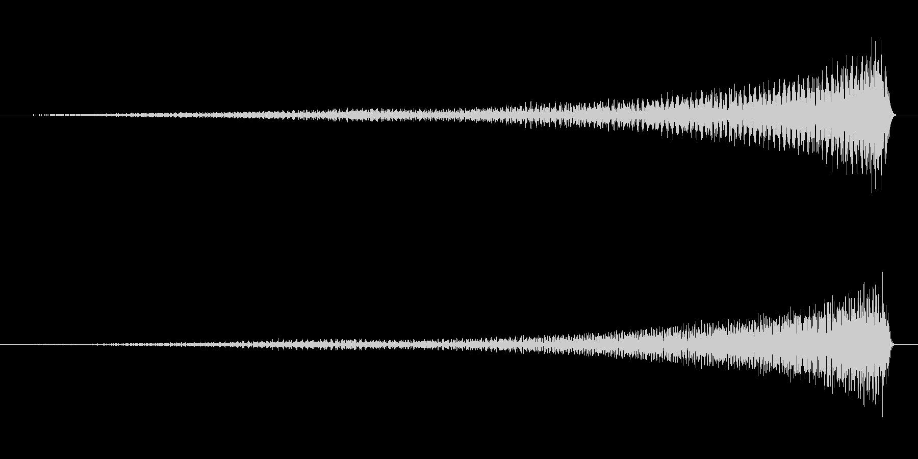 ピアノのワンショット効果音07-リバースの未再生の波形