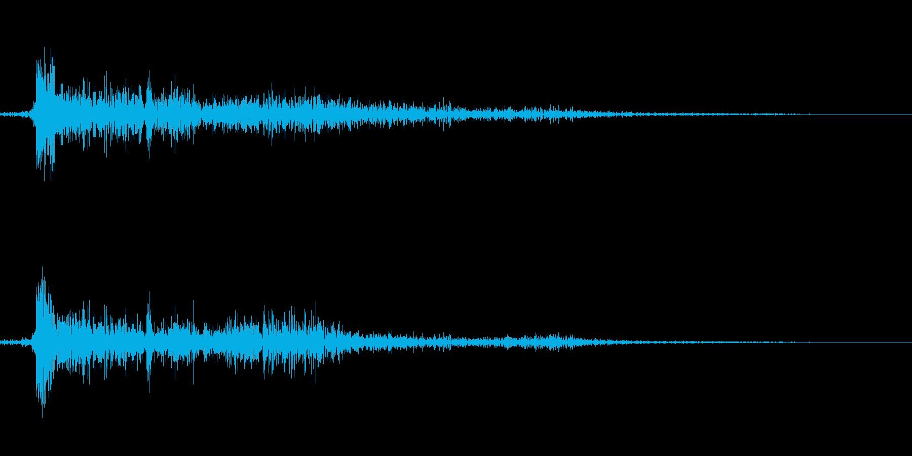 【銃声音005】ピストルやライフル発砲音の再生済みの波形