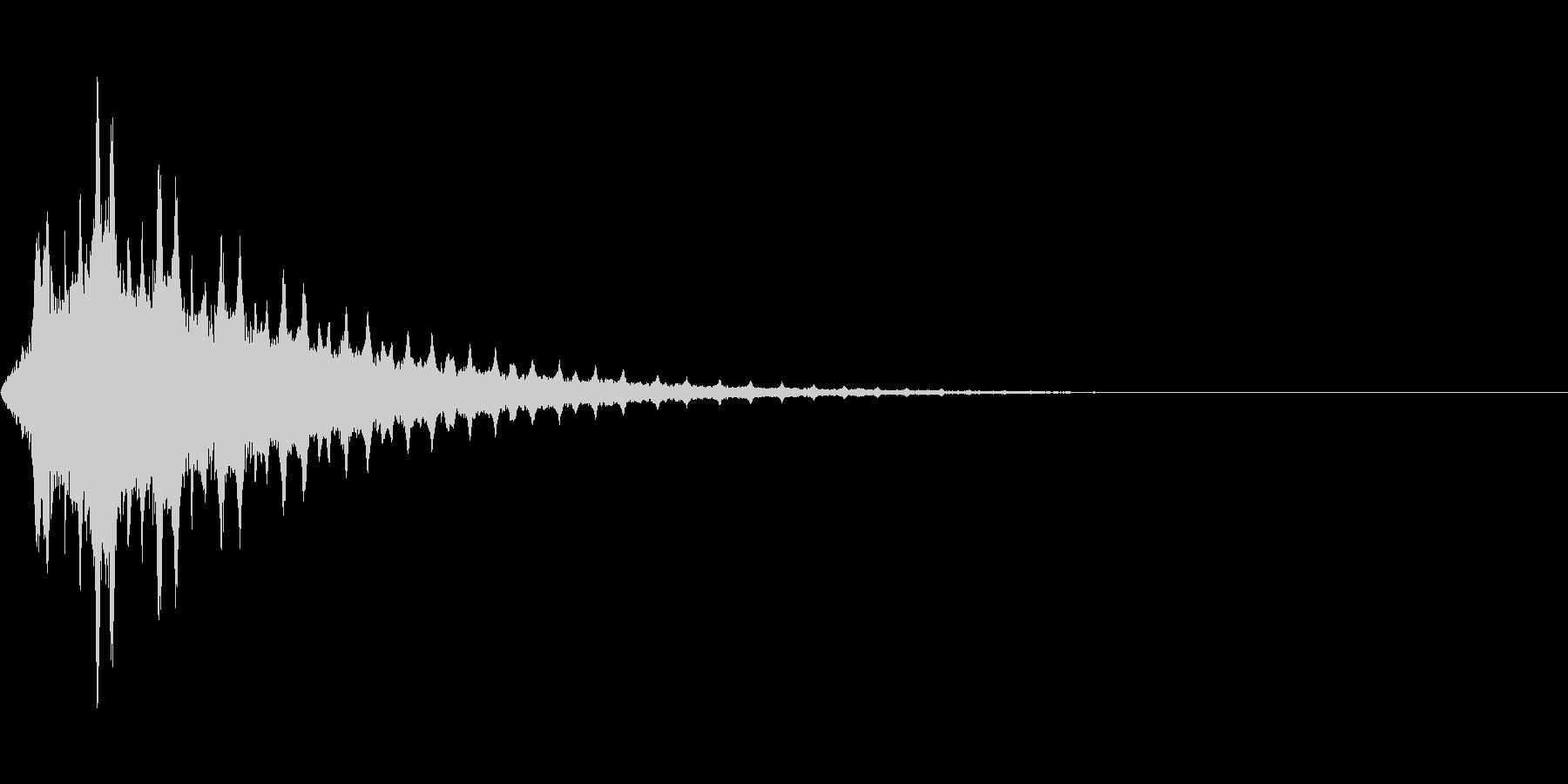シュワワワワワンの未再生の波形