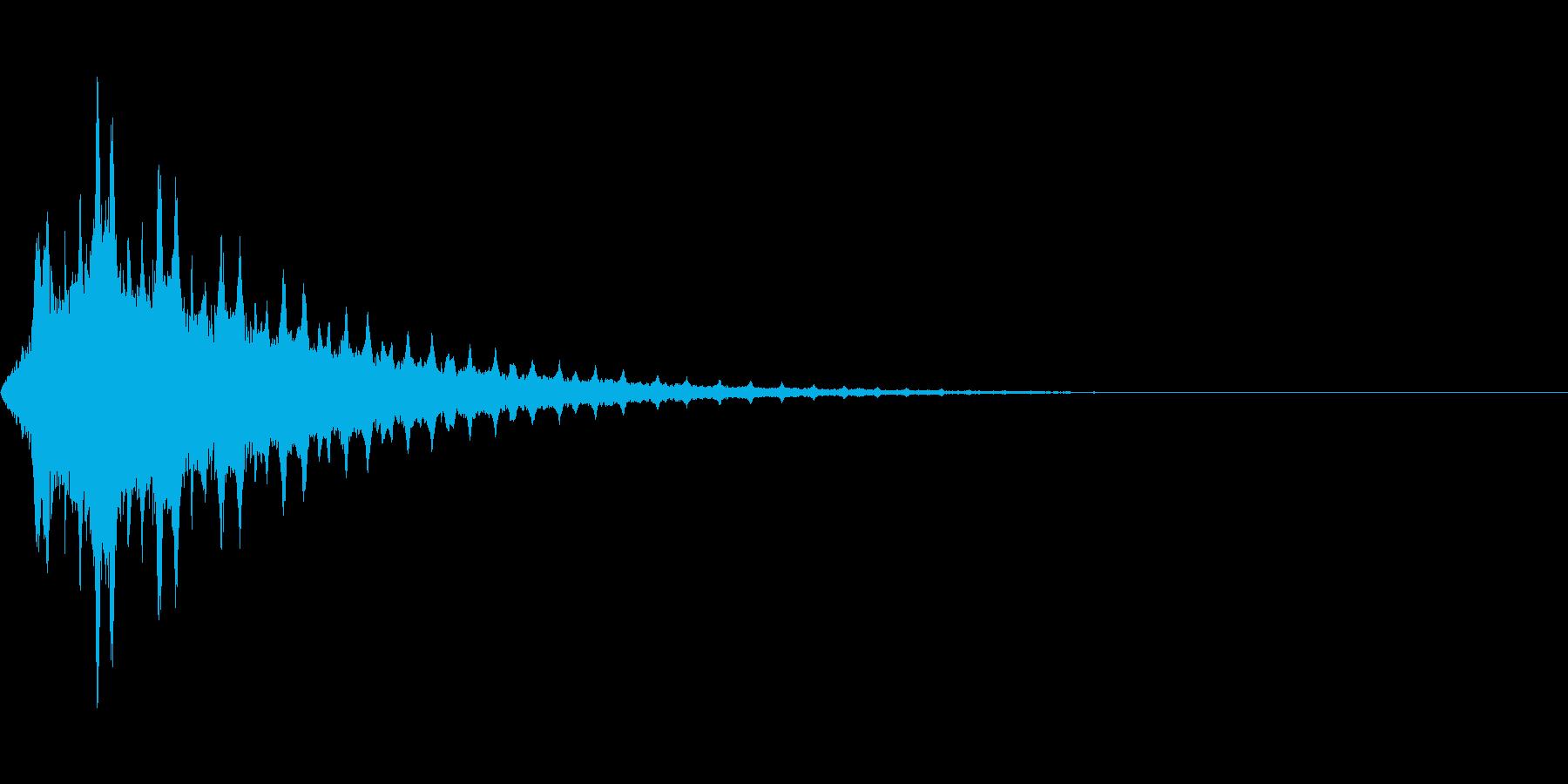 シュワワワワワンの再生済みの波形