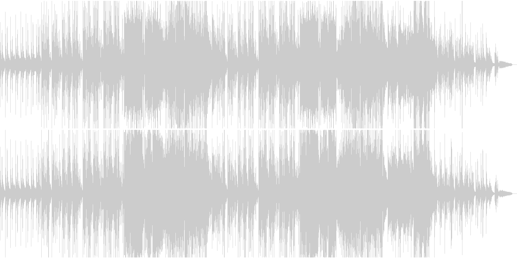 とても懐かしい、おしゃれな和風ポップスの未再生の波形