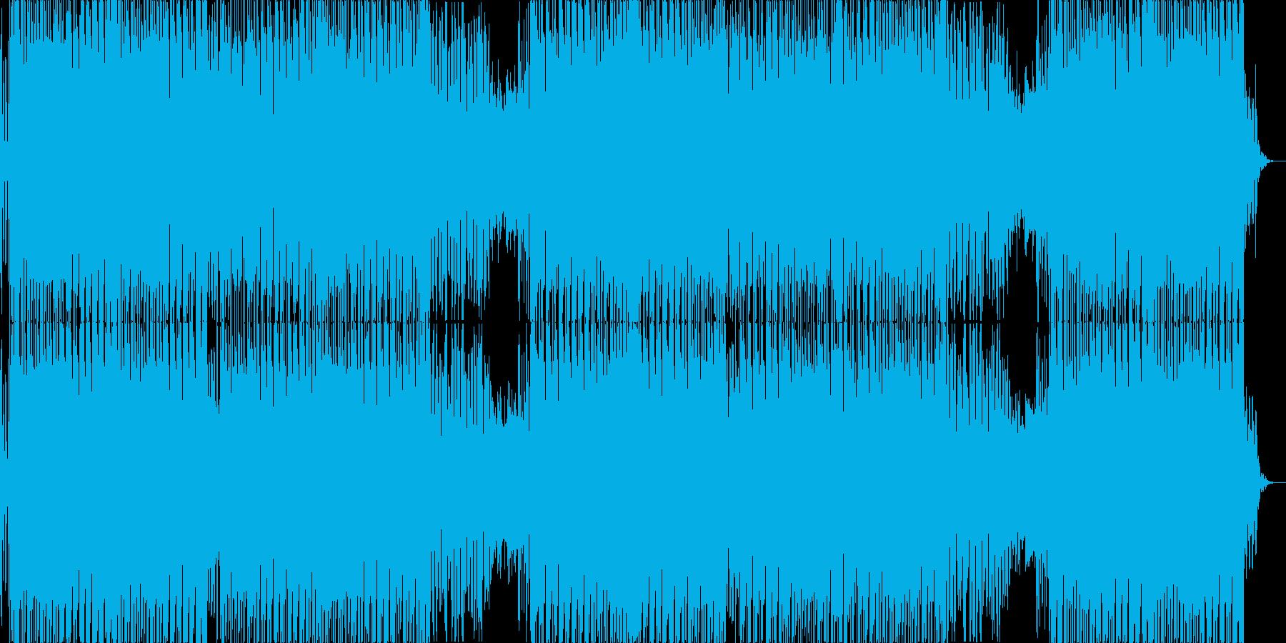 爽やかなシンセウェーブ、テクノ・ポップ♬の再生済みの波形