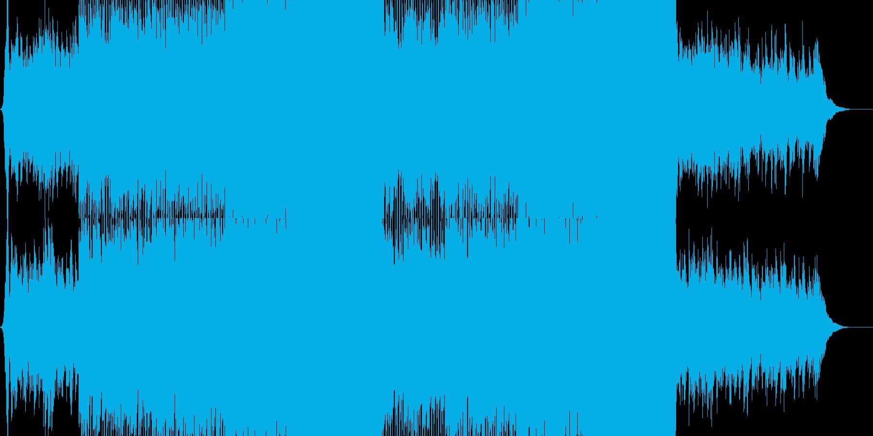 ロック系 徐々に盛り上がるギターロックの再生済みの波形