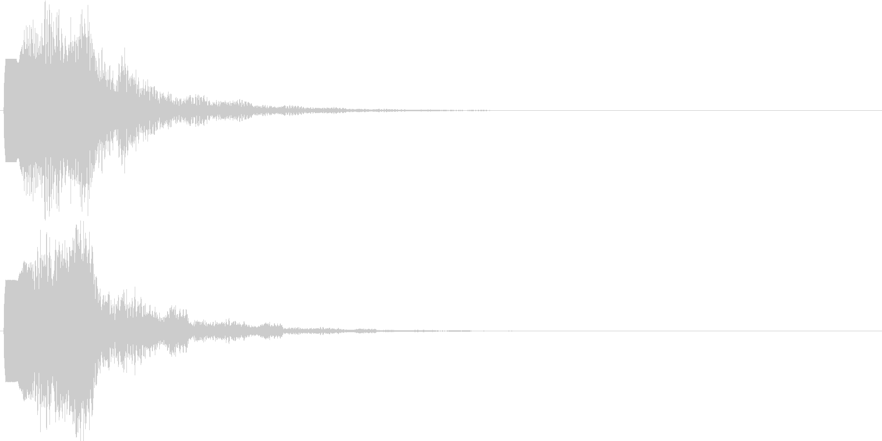 ピロロン(ボタン音・プッシュ音)の未再生の波形